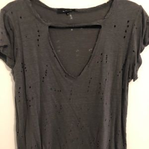 Olivaceous Distressed Tee